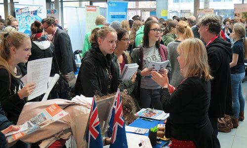 JugendBildungsmesse JuBi München: Auslandsaufenthalte, Beratung zu Auslandsstudium