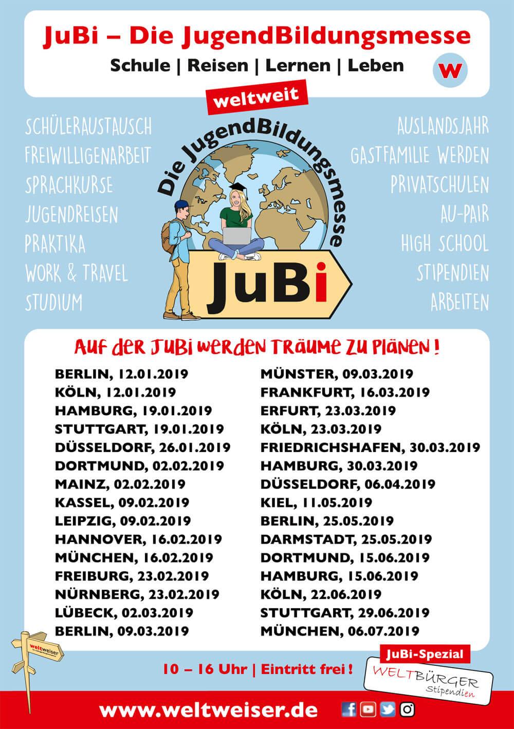JugendBildungsmesse · Flyer · Termine JugendBildungsmesse 2019